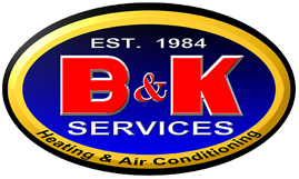 B & K Heating and Air logo