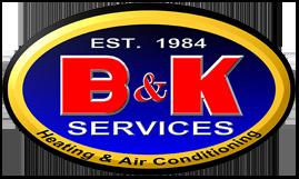 B & K Heating and Air logo